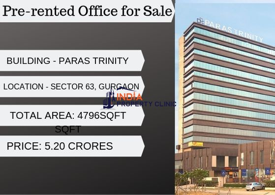 Pre-rented Office for Sale in Paras trinity, Gurgaon