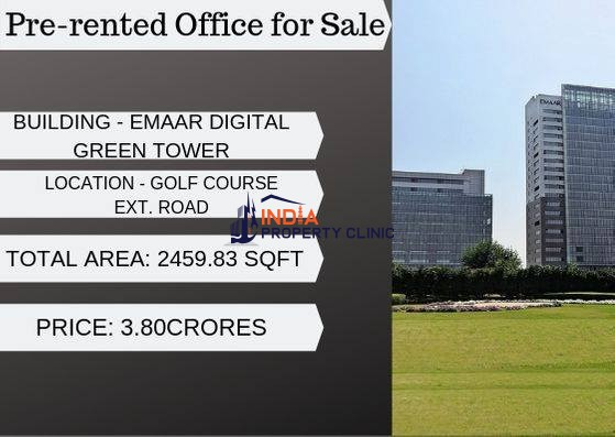 Pre-rented Office for Sale in Golf Course Ext Rd Gurgaon