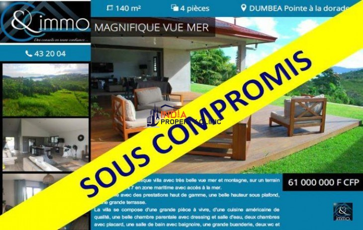 Luxury Villa For Sale in Dumbéa