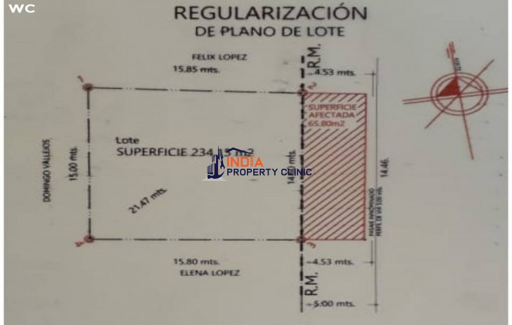 Lot For Sale in north villazon
