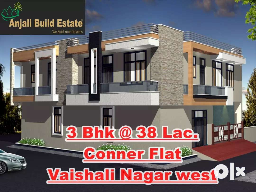 3 BHK luxurious Conner flat on 60ft road Vaishali Nagar West