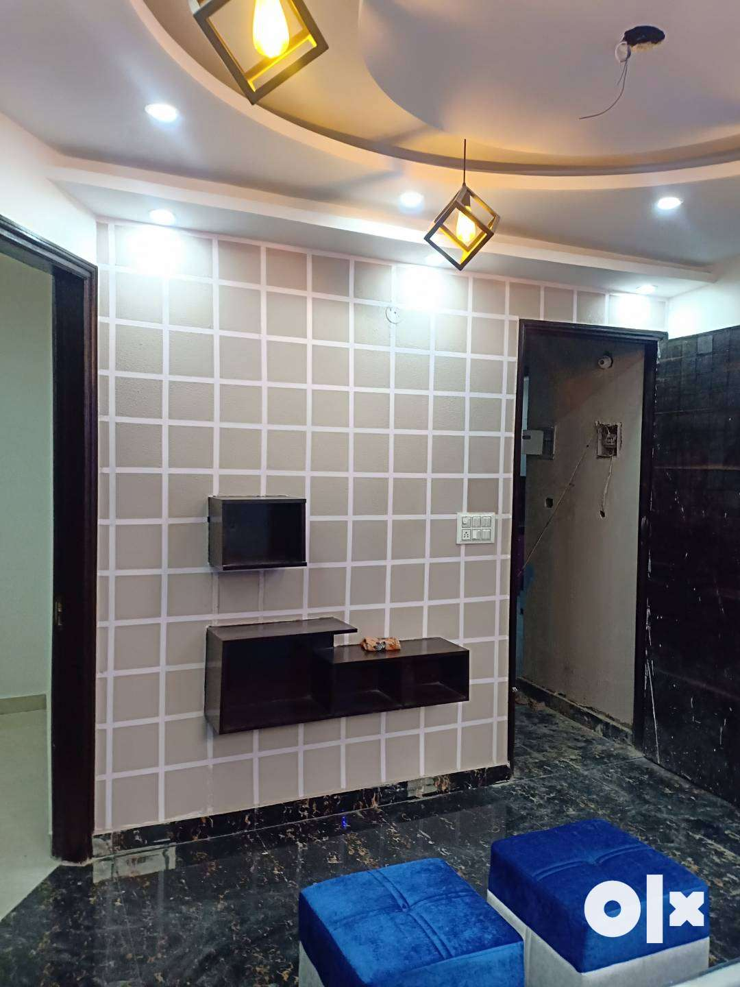 3BHK L-type fully furnished flat at 28.5 lacs with car parking