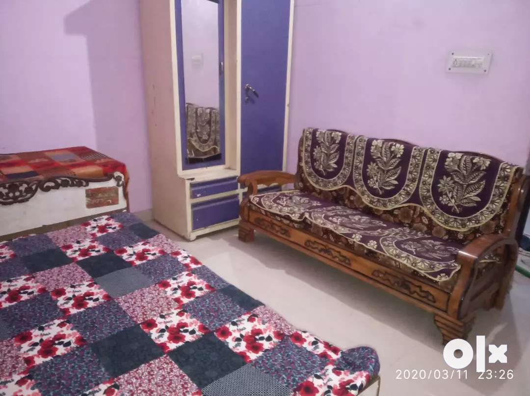 One room furnished set with kitchen