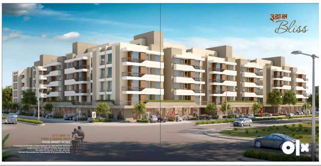 &416sqft CA% 1BHK Luxury flat/for sale at RUDRAKSH BLISS