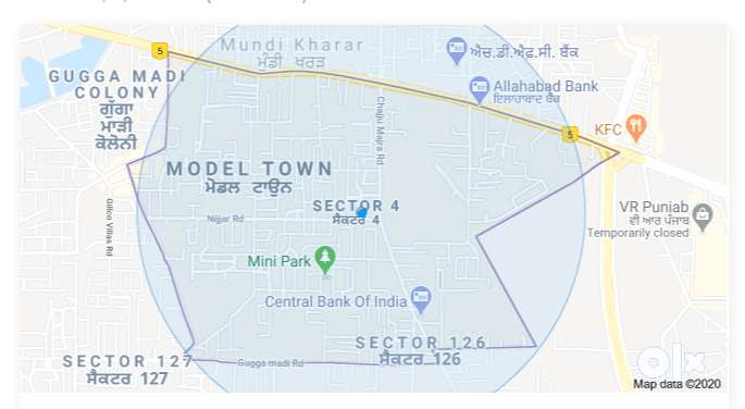 2BHK for Rent in Model Town Kharar