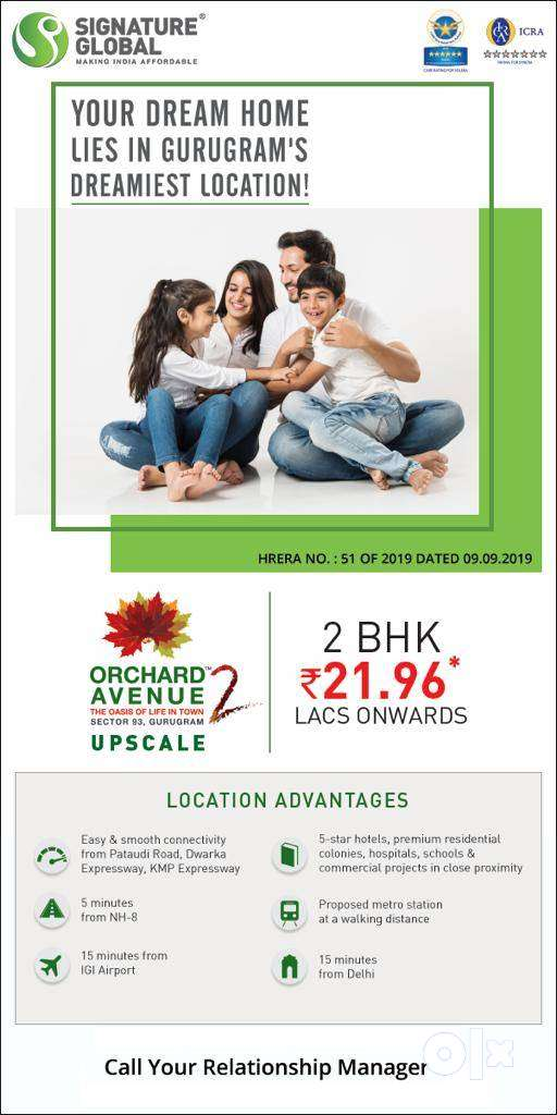 PROJECT OF SIGNATURE GLOBAL IN Gurgaon, RERA approved, HUDA certified