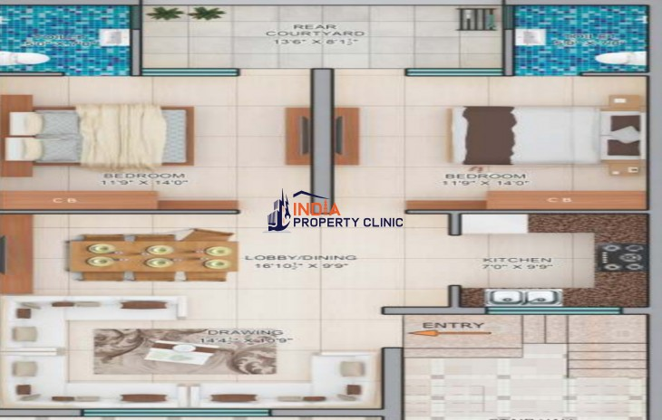 2 BHk Flat For Sale Mohali